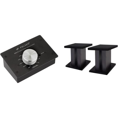 Polsen Passive Volume Controller and Desktop Monitor Stands Kit
