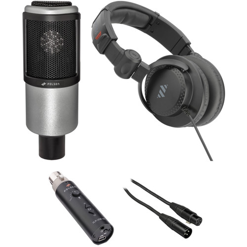 Polsen PR-65 Large-Diaphragm Mic Portable Podcasting Kit