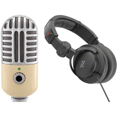 Polsen RC-77-U USB Retro Condenser Microphone Kit with Studio Headphones