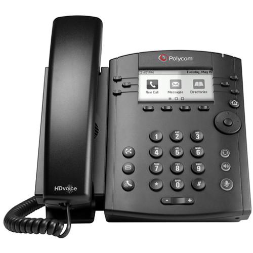 Polycom VVX 300P Business Media Phone with Power Supply