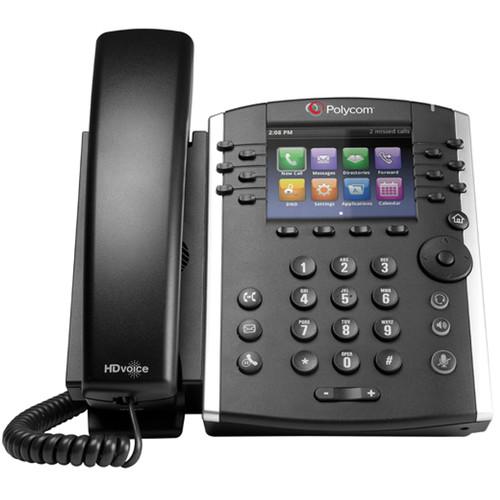 Polycom VVX400P Business Media IP Phone with Power Supply