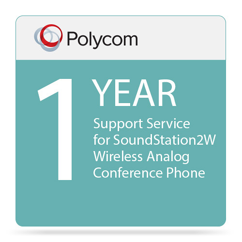 Polycom 1-Year Support Service for SoundStation2W Wireless Analog Conference Phone