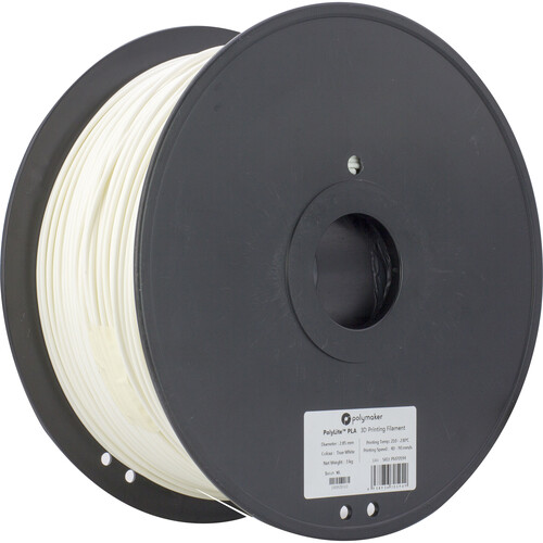 Polymaker 3mm PolyLite PLA Filament (3 kg, True White)