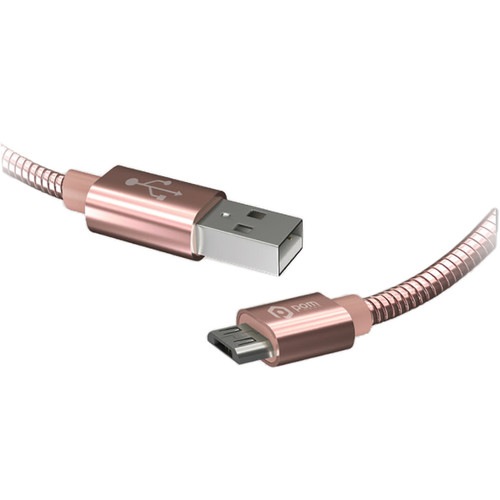 POM GEAR 6' Micro USB Metal Coil Cable (Rose Gold)