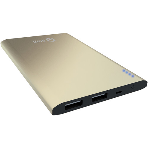 POM GEAR Power2Go Matrix 4400mAh Power Bank (Gold)
