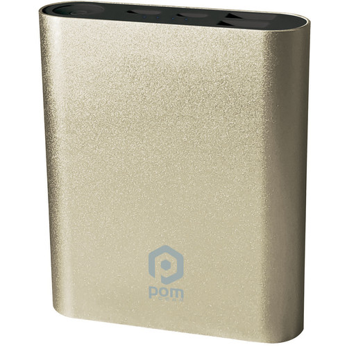 POM GEAR Power2Go 10 10,400mAh Power Bank (Gold)