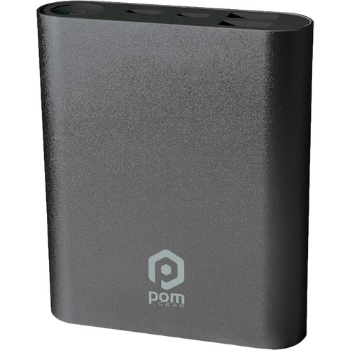POM GEAR Power2Go 10 10,400mAh Power Bank (Gun Metal)