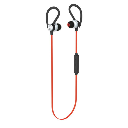 POM GEAR PRO2GO DriveX Premium Secure Fit Wireless Bluetooth Earbuds (Red)