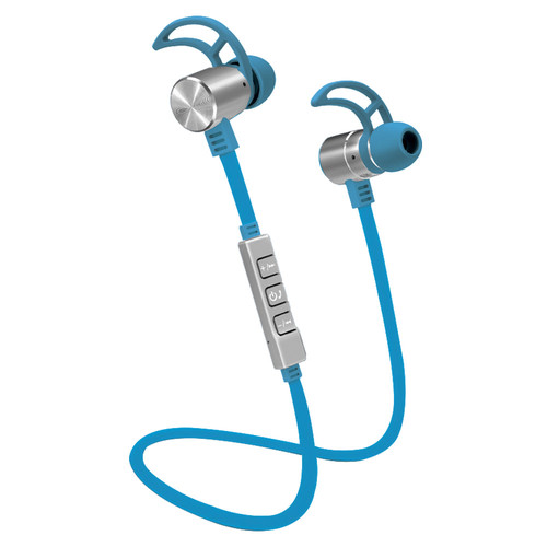 POM GEAR Pro2GO P-One Wireless Bluetooth Noise-Cancelling Earbuds (Blue)