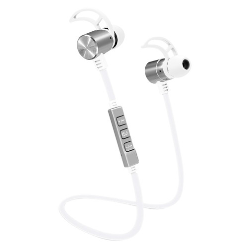 POM GEAR Pro2GO P-One Wireless Bluetooth Noise-Cancelling Earbuds (White)