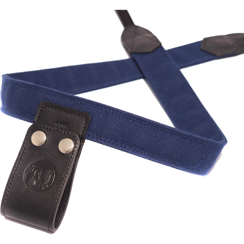 PONTE Leather Co Midnight Blue Canvas Camera Lift-Strap