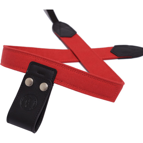 PONTE Leather Co Firebrick Canvas Camera Lift-Strap