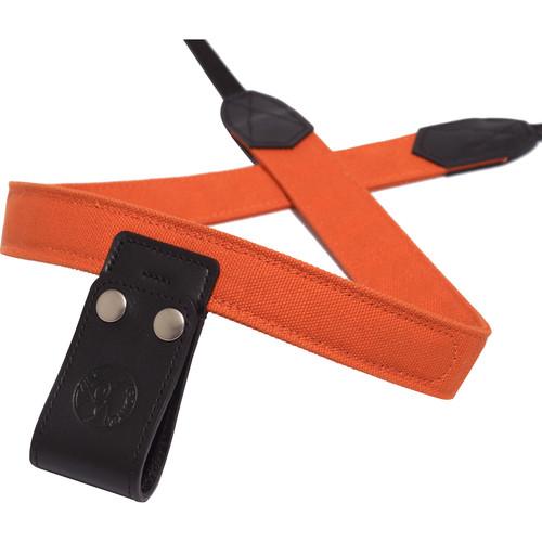 PONTE Leather Co Burnt Orange Canvas Camera Lift-Strap