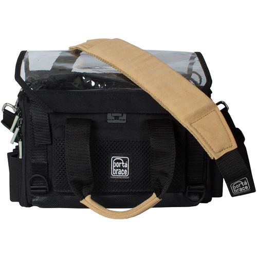Porta Brace Silent Audio Organizer Case with Heavy-Duty Strap, Harness, Rain Cover & Pouches