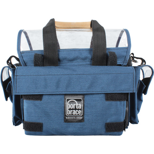 Porta Brace AO-1.5XH Audio Organizer with AH-2H Harness Kit (Blue)