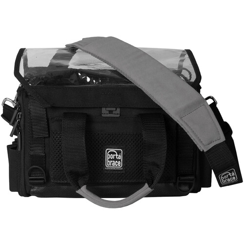 Porta Brace Lightweight And Silent Audio Organizer Case With Suede Strap And Rain Cover