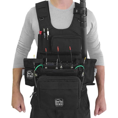 Porta Brace ATV-MAXX Audio Tactical Vest for Zaxcom Maxx Recorder (Black)