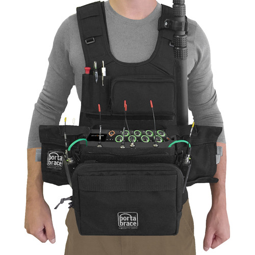 Porta Brace ATV-MIXPRE10T Audio Tactical Vest for Sound Devices MixPre-10T Recorder