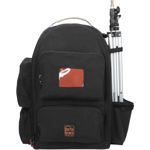 PortaBrace Backpack with Semi-Rigid Frame for Panasonic AG-UX180 (Black)
