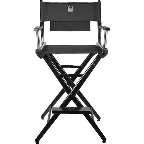 Porta Brace Director's Chair Kit (Black Wood with Black Seat & Back)