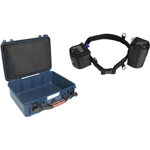Porta Brace Lens Cup Belt with PB-2400 Hard Case Kit (Blue)