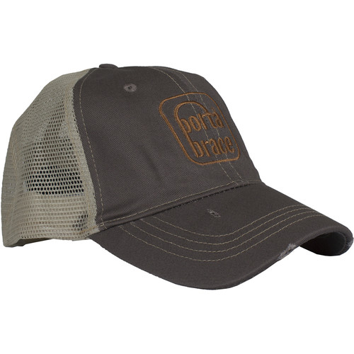 Porta Brace Trucker Cap with Embroidered Logo (One-Size, Vintage Color)