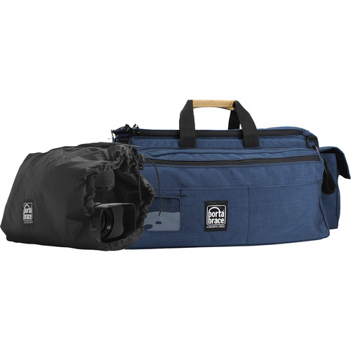 Porta Brace CAR-3 Rigid Frame Cargo Case with BK-ZC Padded Camera Pouch (Blue)