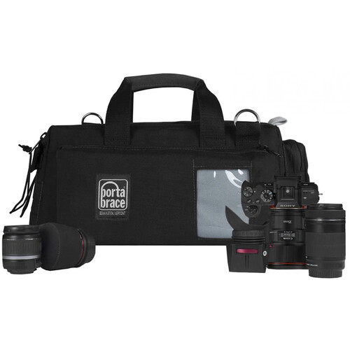 Porta Brace Semi-Rigid Lightweight Cargo Case for Canon XA35 (Small, Black)