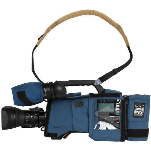 Porta Brace Camera Body Armor for the Panasonic AG-HPX600 Camcorder (Blue)