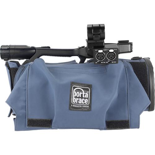 Porta Brace Camera Body Armor with Rain Cover for Sony PXW-X200 (Blue)