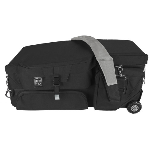Porta Brace CC-HD1BOR Quick Draw Case with Off-Road Wheels (Black)