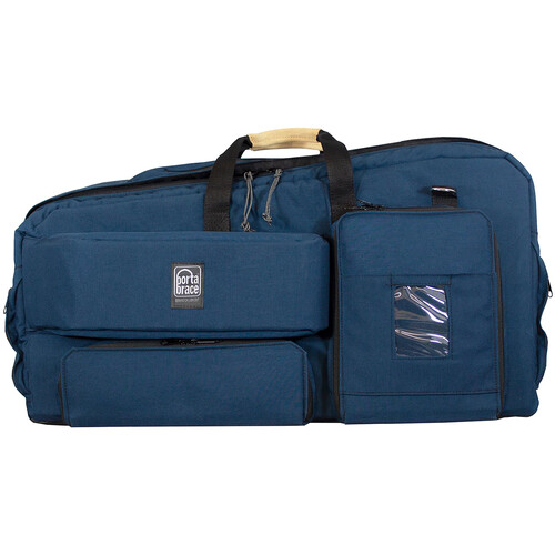 Porta Brace Carry-On Camcorder Case with Plastic Viewfinder Guard (Blue,Large)