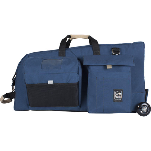 Porta Brace Rolling ENG-Style Camera Bag (Blue)