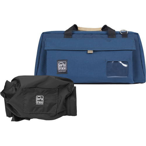 Porta Brace CS-DV4U Camcorder Case and Quick Slick Mini Rain Cover Kit (Blue)