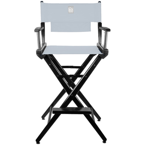 Porta Brace Director's Chair Kit (Black Wood with Blue Seat & Back)