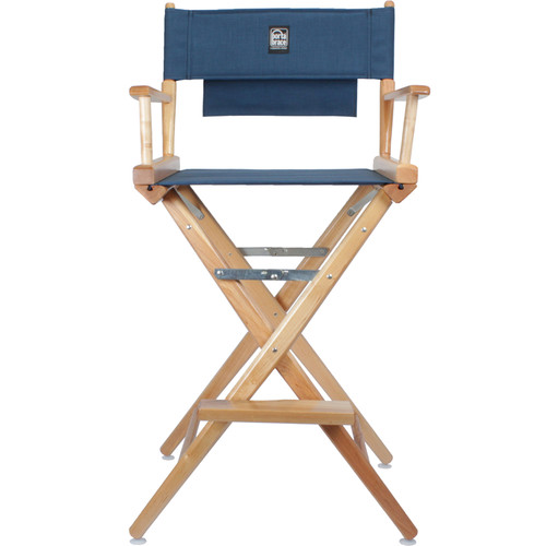 Porta Brace Director's Chair Kit (Natural Wood with Blue Seat & Back)
