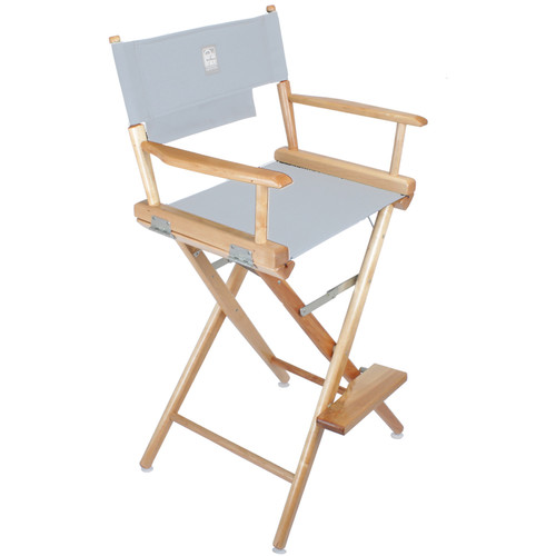Porta Brace Director's Chair Kit (Natural Wood with Black Seat & Back)