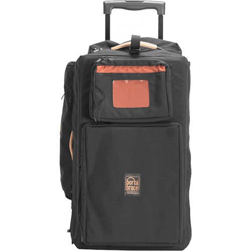 Porta Brace Production Case with Dividers & Off-Road Removable Wheels (Small, Black)