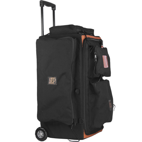 Porta Brace Production Case with Dividers & Off-Road Removable Wheels (Medium, Black)