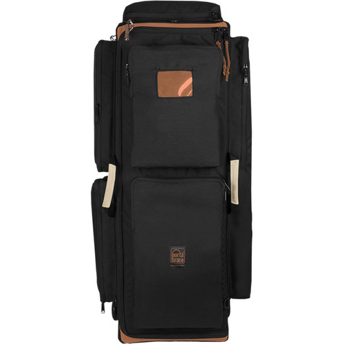 Porta Brace Production Case with Dividers & Off-Road Removable Wheels (Large, Black)