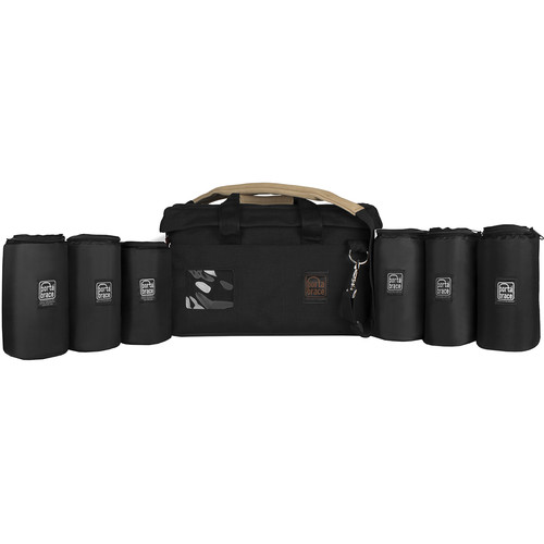 "Porta Brace Rigid-Frame Padded Carrying Case with Six 7"" Lens Cups"