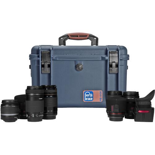 Porta Brace Photography Hard Case with Custom Divider Kit (Blue)