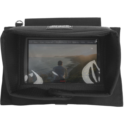 Porta Brace Monitor Case and Foldout Visor for Blackmagic Design Video Assist Monitor