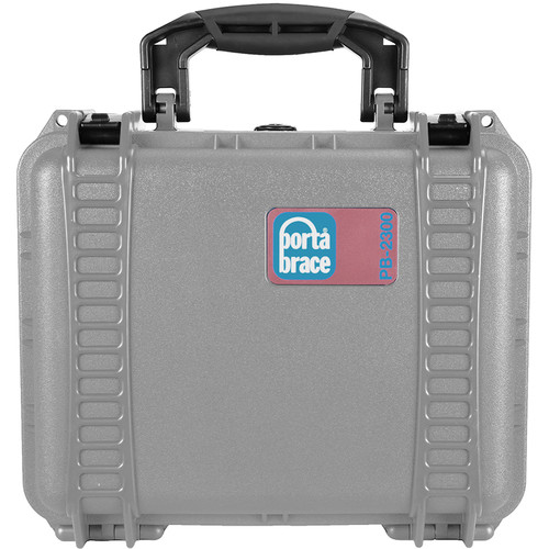 Porta Brace PB-2300FP Hard Case with Foam Interior (Platinum Silver)