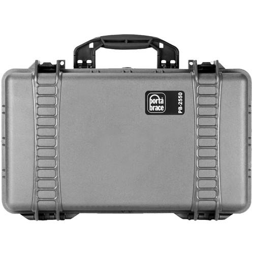 PortaBrace PB-2550 Hard Case with Divider Kit (Silver Platinum)