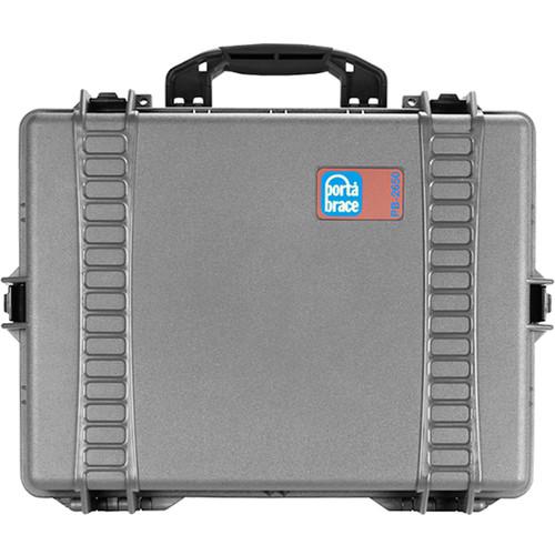 Porta Brace PB-2650 Wheeled Hard Case with Foam (Silver Platinum)