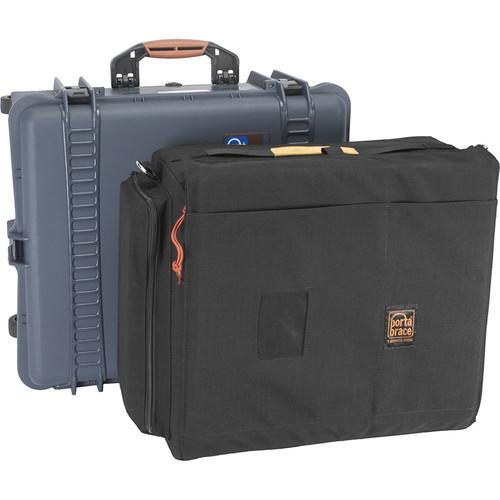 Porta Brace PB-2750E Wheeled Hard Case, Removable Soft Case Combo for Panasonic Eva1 (Blue)