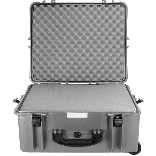 Porta Brace PB-2750F Hard Case with Foam Interior (Silver Platinum)