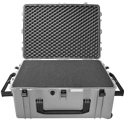 Porta Brace PB-2780FP Wheeled Hard Case with Foam Interior (Silver Platinum)