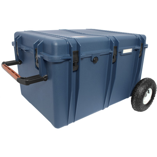 Porta Brace Trunk-Style Hard Case with Off-Road Wheels (Blue)
